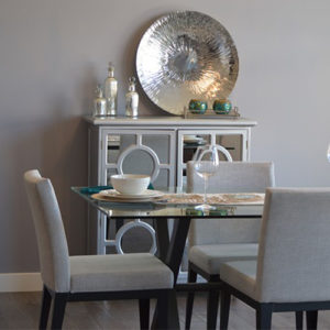 Simple Gray Dining Set